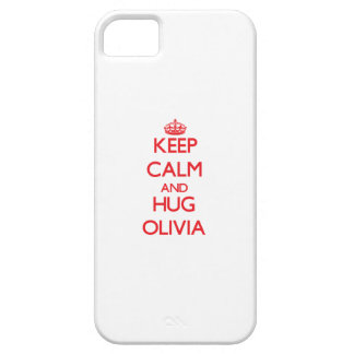 Keep Calm and Hug Olivia iPhone 5 Cases