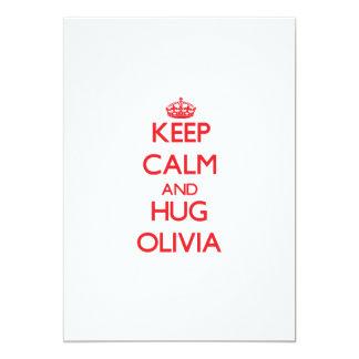Keep Calm and Hug Olivia Invites