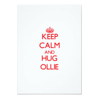Keep Calm and HUG Ollie Personalized Invite