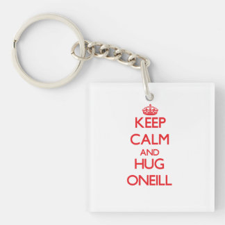 Keep calm and Hug Oneill Double-Sided Square Acrylic Keychain