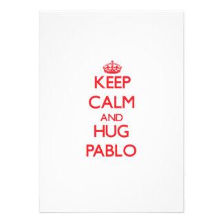 Keep Calm and HUG Pablo Custom Invite
