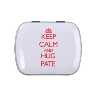 Keep calm and Hug Pate Jelly Belly Tin