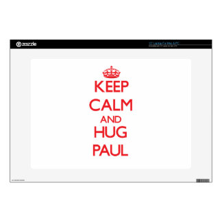 "Keep calm and Hug Paul Decal For 15"" Laptop"