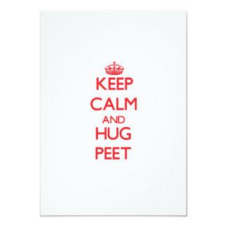 Keep calm and Hug Peet 5x7 Paper Invitation Card