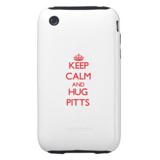 Keep calm and Hug Pitts iPhone 3 Tough Covers