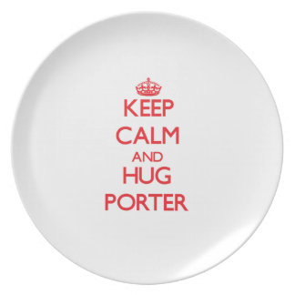 Keep calm and Hug Porter Dinner Plates