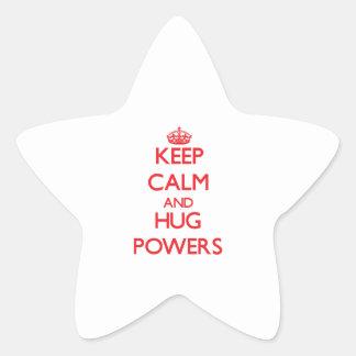 Keep calm and Hug Powers Star Sticker