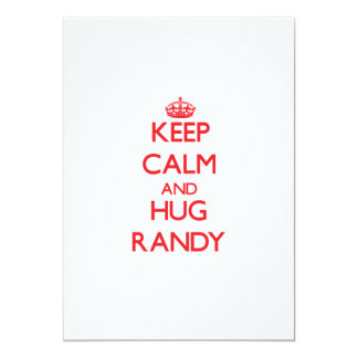 Keep Calm and HUG Randy Personalized Announcement