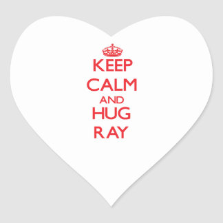 Keep calm and Hug Ray Heart Sticker