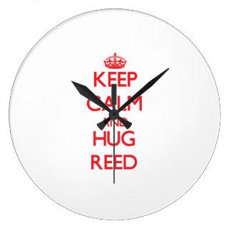 Keep calm and Hug Reed Clocks