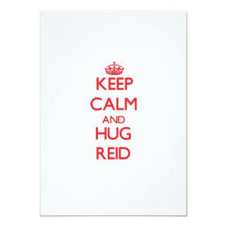 Keep calm and Hug Reid 5x7 Paper Invitation Card