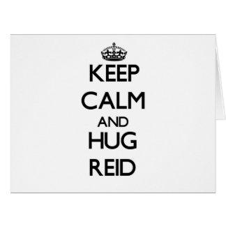 Keep Calm and Hug Reid Large Greeting Card