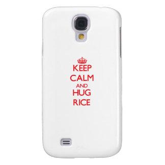 Keep calm and Hug Rice Samsung Galaxy S4 Cover