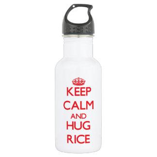 Keep calm and Hug Rice 18oz Water Bottle