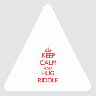 Keep calm and Hug Riddle Stickers