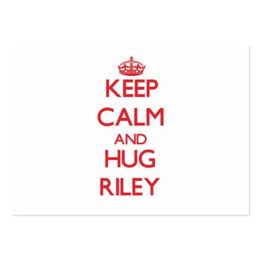 Keep calm and Hug Riley Business Card Template