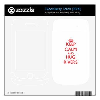 Keep calm and Hug Rivers BlackBerry Torch Skin
