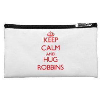 Keep calm and Hug Robbins Cosmetic Bags