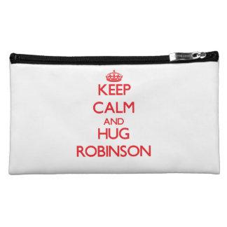 Keep calm and Hug Robinson Cosmetic Bag