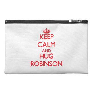 Keep calm and Hug Robinson Travel Accessory Bag
