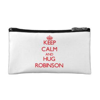 Keep calm and Hug Robinson Cosmetic Bags