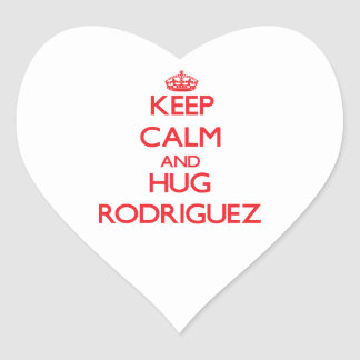 Keep calm and Hug Rodriguez Heart Sticker