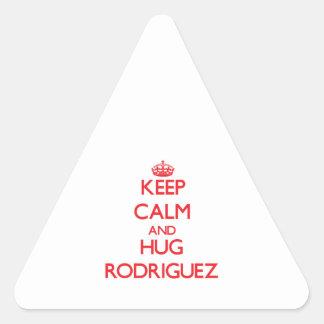 Keep calm and Hug Rodriguez Triangle Sticker