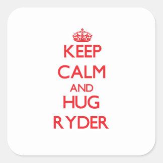 Keep calm and Hug Ryder Square Sticker