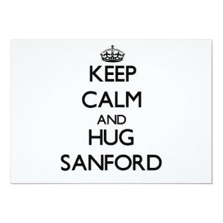 Keep Calm and Hug Sanford Invitation