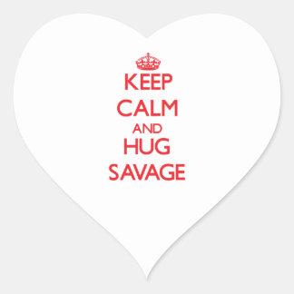 Keep calm and Hug Savage Sticker