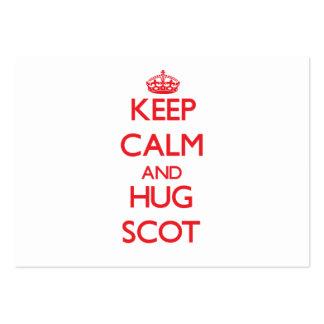 Keep Calm and HUG Scot Business Card Template