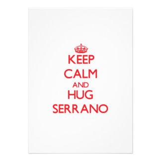 Keep calm and Hug Serrano Personalized Invitation