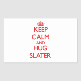 Keep calm and Hug Slater Rectangular Stickers