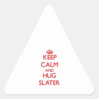 Keep calm and Hug Slater Triangle Stickers