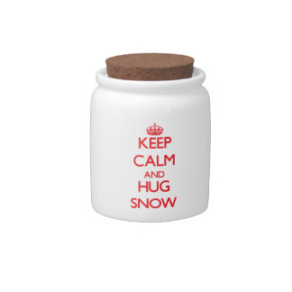 Keep calm and Hug Snow Candy Jars