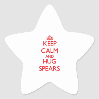 Keep calm and Hug Spears Star Sticker