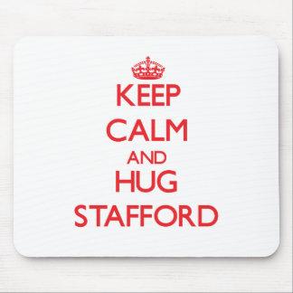 Keep calm and Hug Stafford Mousepad