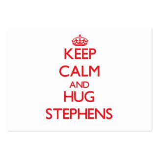 Keep calm and Hug Stephens Business Card