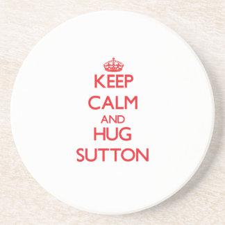 Keep calm and Hug Sutton Drink Coaster