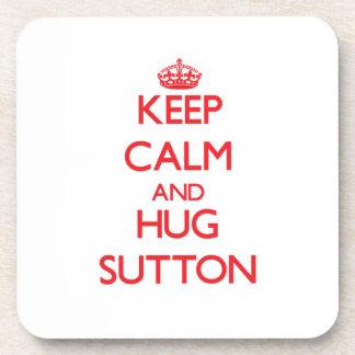 Keep calm and Hug Sutton Beverage Coaster