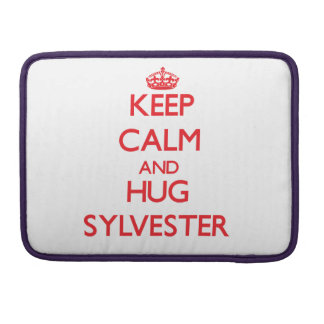Keep Calm and HUG Sylvester Sleeves For MacBook Pro