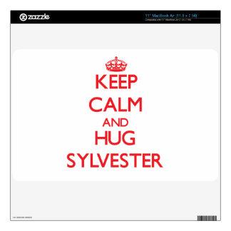 Keep Calm and HUG Sylvester Skins For MacBook