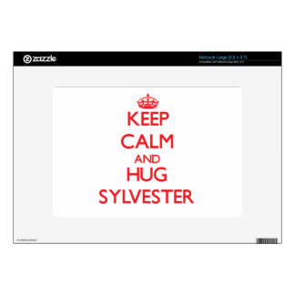Keep Calm and HUG Sylvester Decal For Large Netbook