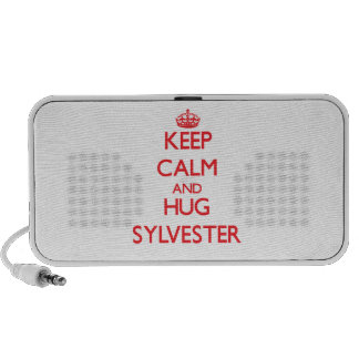 Keep Calm and HUG Sylvester Notebook Speakers