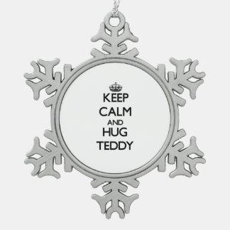 Keep Calm and Hug Teddy Ornament