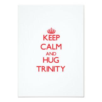 Keep Calm and Hug Trinity 5x7 Paper Invitation Card
