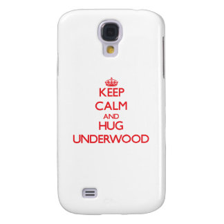 Keep calm and Hug Underwood Galaxy S4 Cases