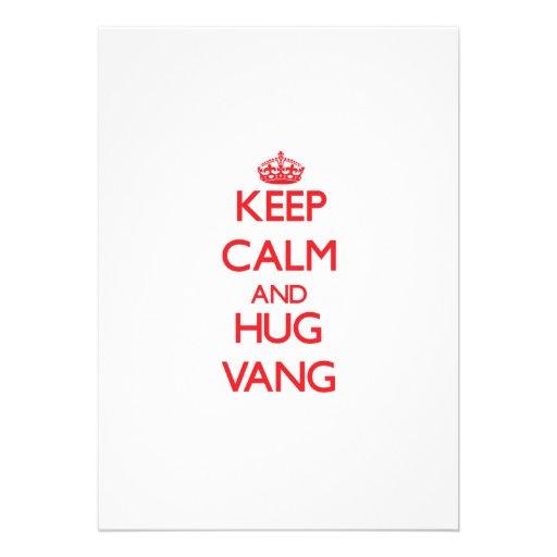 Keep calm and Hug Vang Card