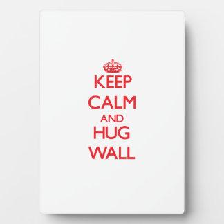 Keep calm and Hug Wall Plaque