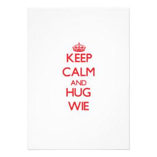 Keep calm and Hug Wie Custom Announcement